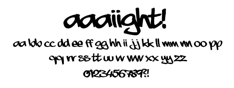 Hand: Aaaiight! font