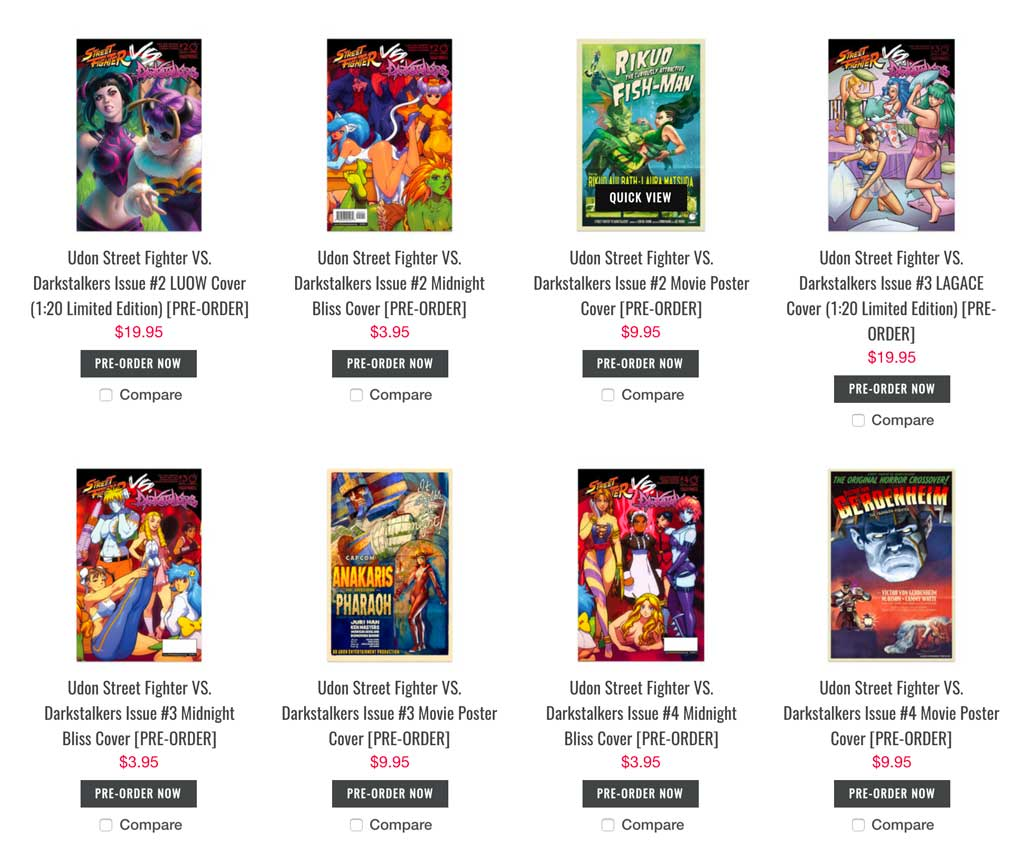 Save on Udon books and comics via code ILOVEUDON