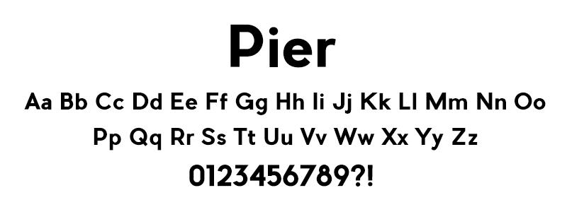 Sans: Pier font