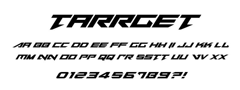 pop: Tarrget (Tekken) font