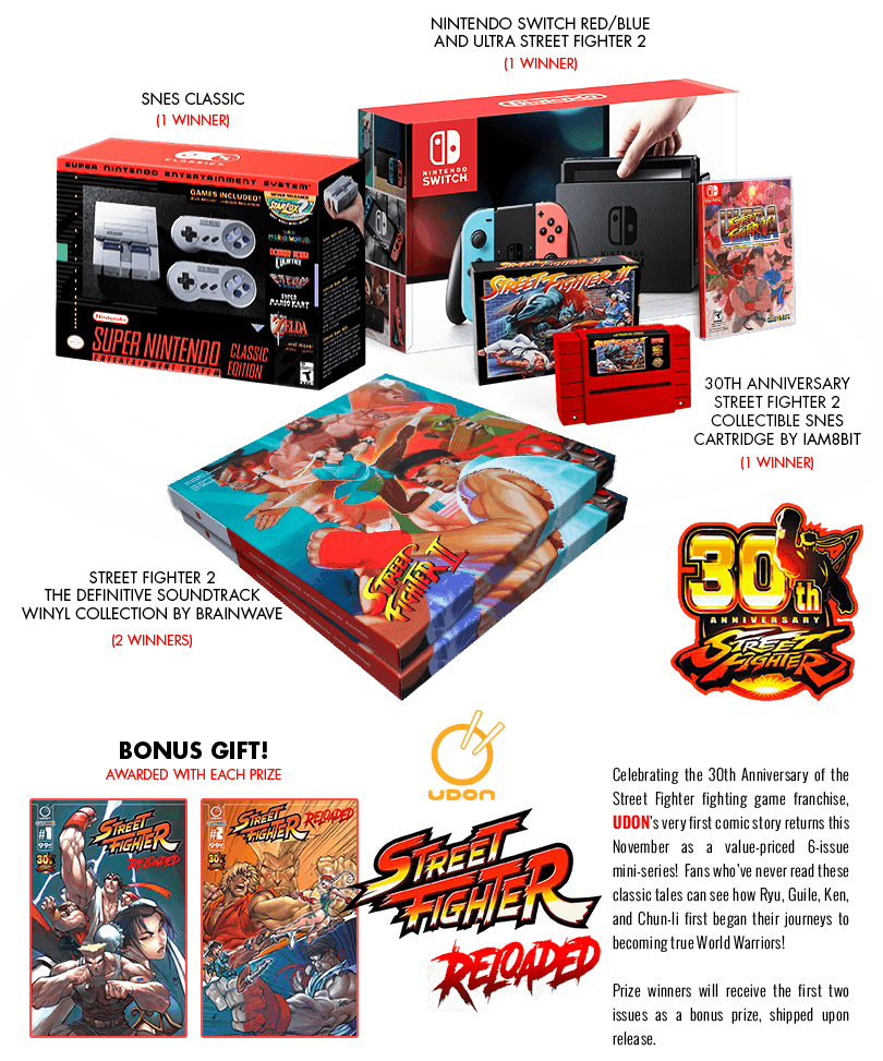 Enter our SF30 Giveaway for a chance to win collectible prizes!