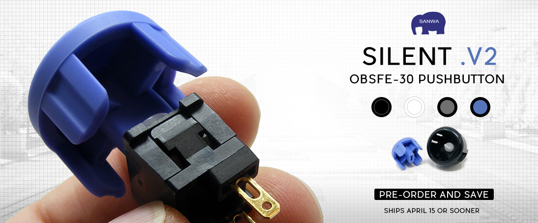 Pre-Order the new Sanwa OBFSE Pushbutton
