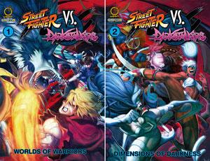 Udon Street Fighter vs Dark Stalkers Volume 1 - Volume 2 Softcover Set